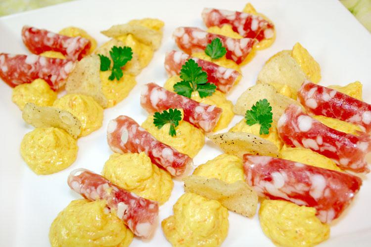 【親しみやすい味わいのサラミ】フェリーノサラミ(スライス)の画像