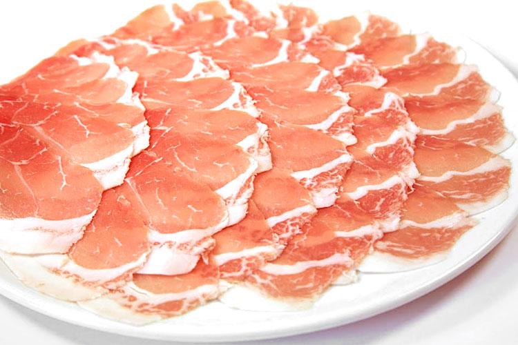 【熟成豚スライス】イベリコ豚ベジョータロース(しゃぶしゃぶ用スライス)300gの画像