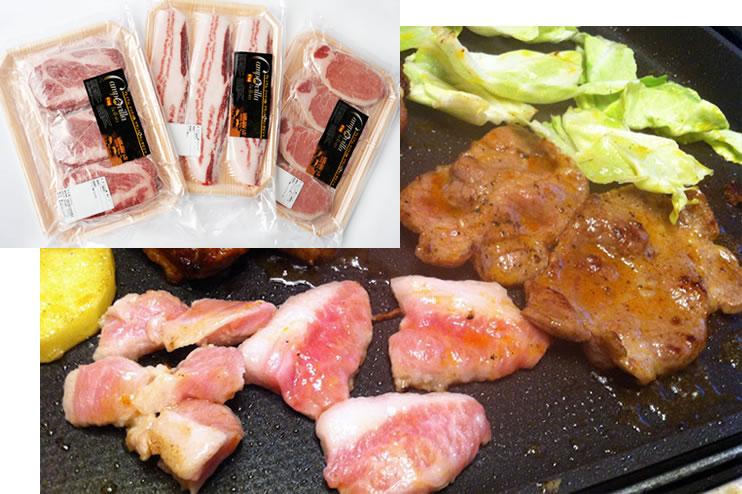 【3つの美味しさ食べ比べ!】イベリコ豚焼肉ギフト(ロース・肩ロース・バラ)のスライス900g)の画像