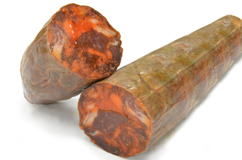 【三つ星レストラン御用達】チョリソー・ベジョータ(粗挽きイベリコ豚のパプリカ風味熟成生サラミ)の画像