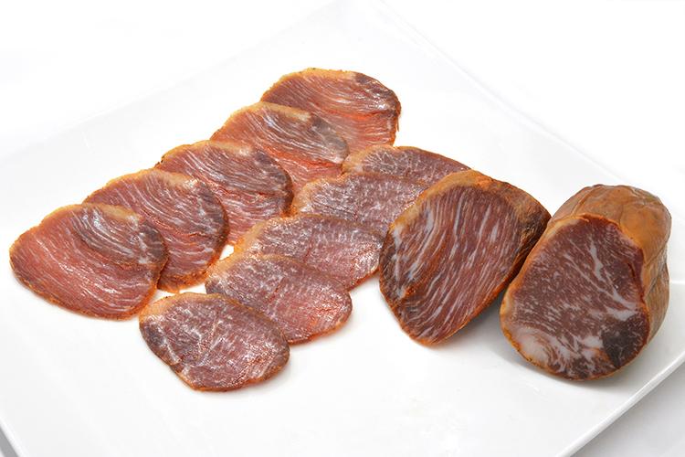 【三つ星レストラン御用達】イベリコ豚霜降りロースの生ハム(ロモイベリコベジョータ/ハーフ)の画像