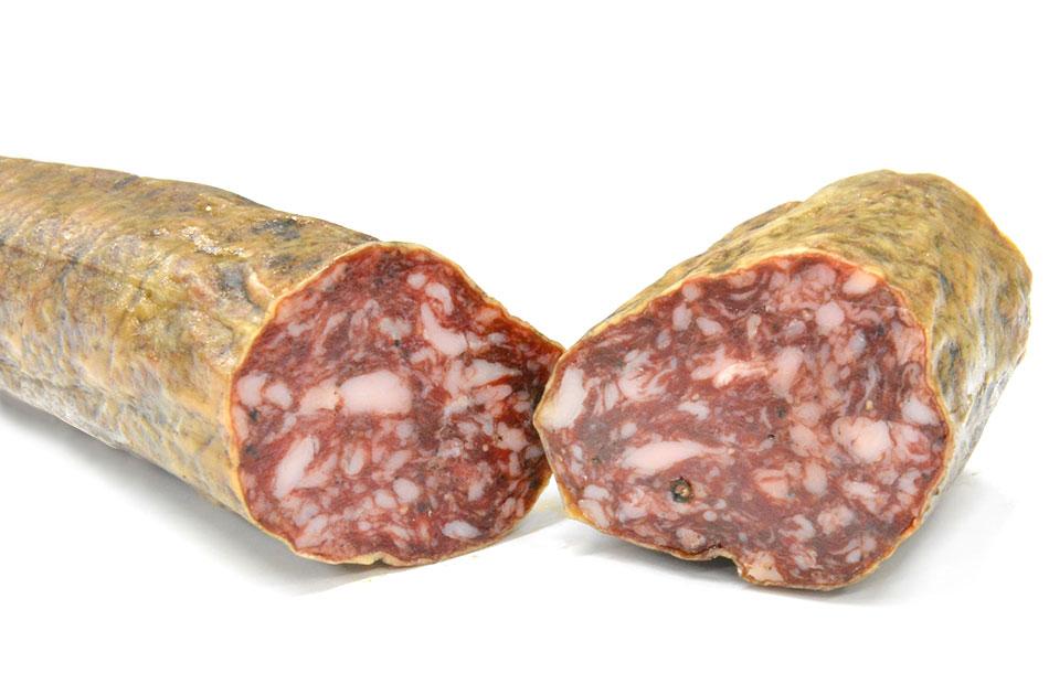 【三つ星レストラン御用達】サルチチョン・ベジョータ(粗挽きイベリコ豚の黒胡椒風味熟成生サラミ)の画像