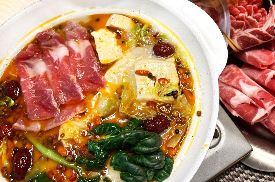 【はまるとやみつきの鍋!】ラム肉&ラムしゃぶ火鍋セットの画像