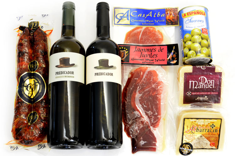 【極上3品のマリアージュ】チャルクテリア・セレクションセット(生ハム・ワイン・チーズが一緒に楽しめるセット)の画像