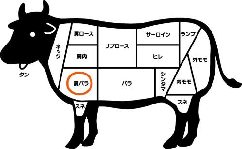 牛肉の部位 肩バラ