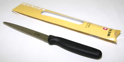 【切れ味と持続バツグン】ウェンガーグランメートルスナックナイフ(波刃・刃渡り13cm)