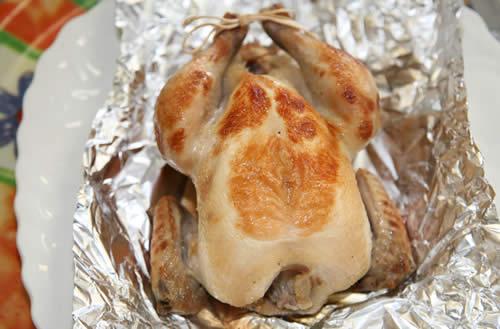 【簡単グルメ人気商品】ゲームヘン・オリジナルマリネ(ロースト用味付プチ丸鶏)の画像